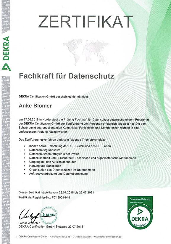 Fachkraft für den Datenschutz im Münsterland
