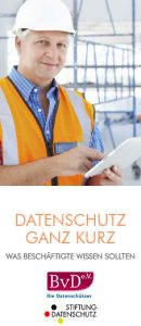 Broschüre Datenschutz ganz kurz - Datenschutzbeauftragter Münsterland